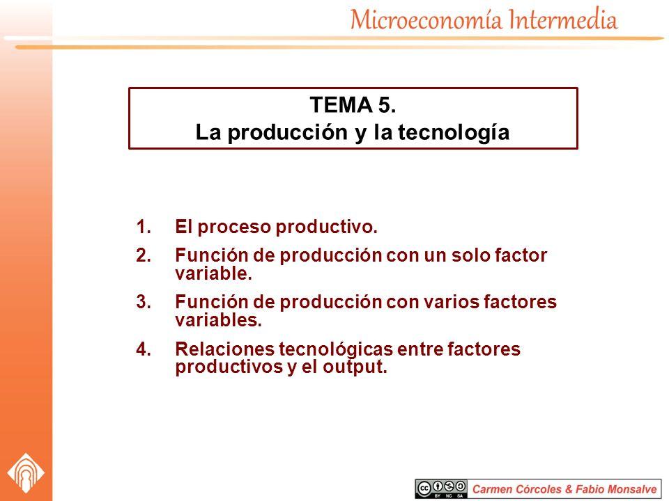 La producción y la tecnología
