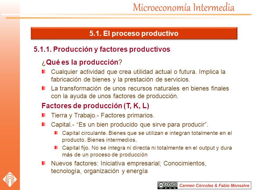 5.1.1. Producción y factores productivos