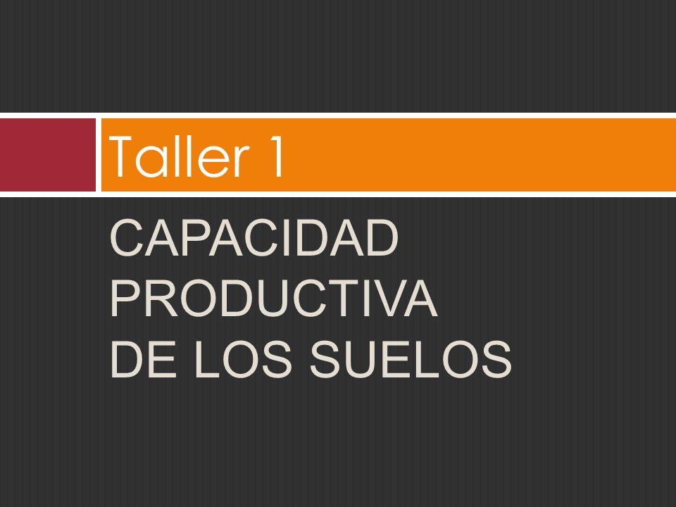 Taller 1 Capacidad productiva de los suelos