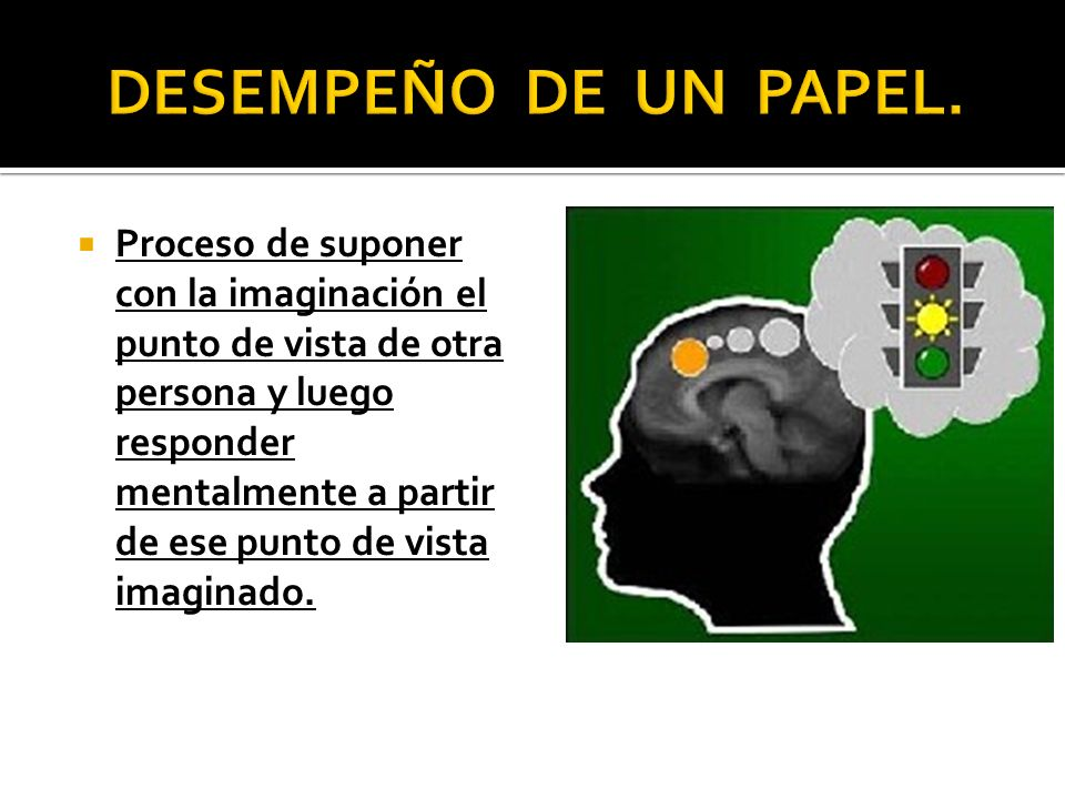 DESEMPEÑO DE UN PAPEL.