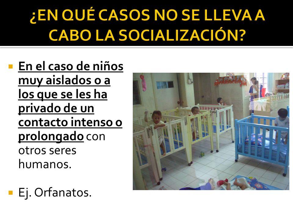 ¿EN QUÉ CASOS NO SE LLEVA A CABO LA SOCIALIZACIÓN