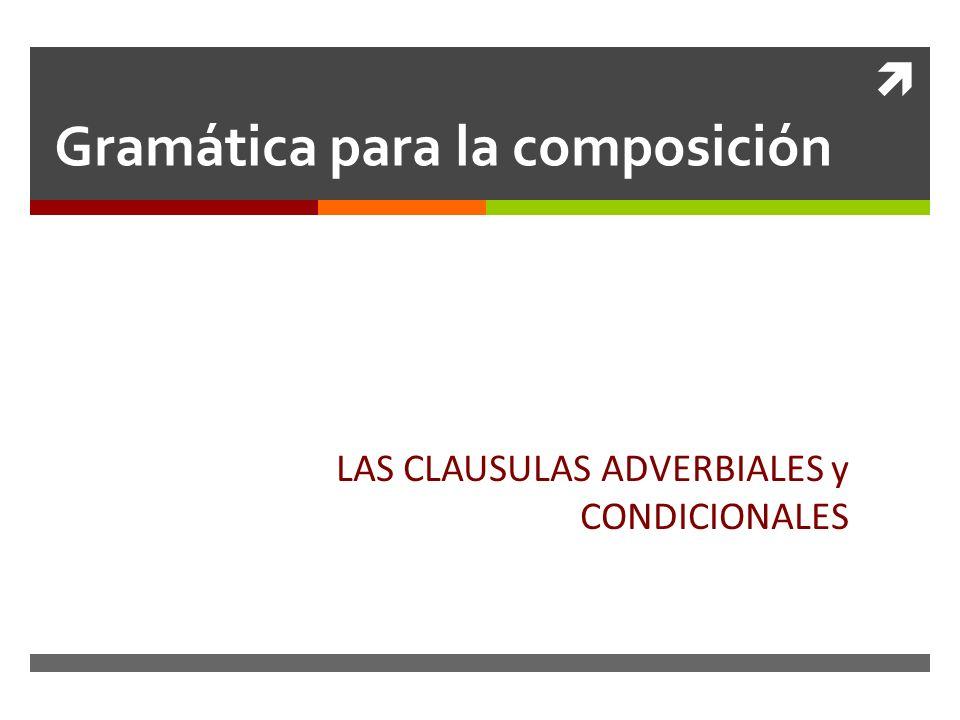 Gramática para la composición