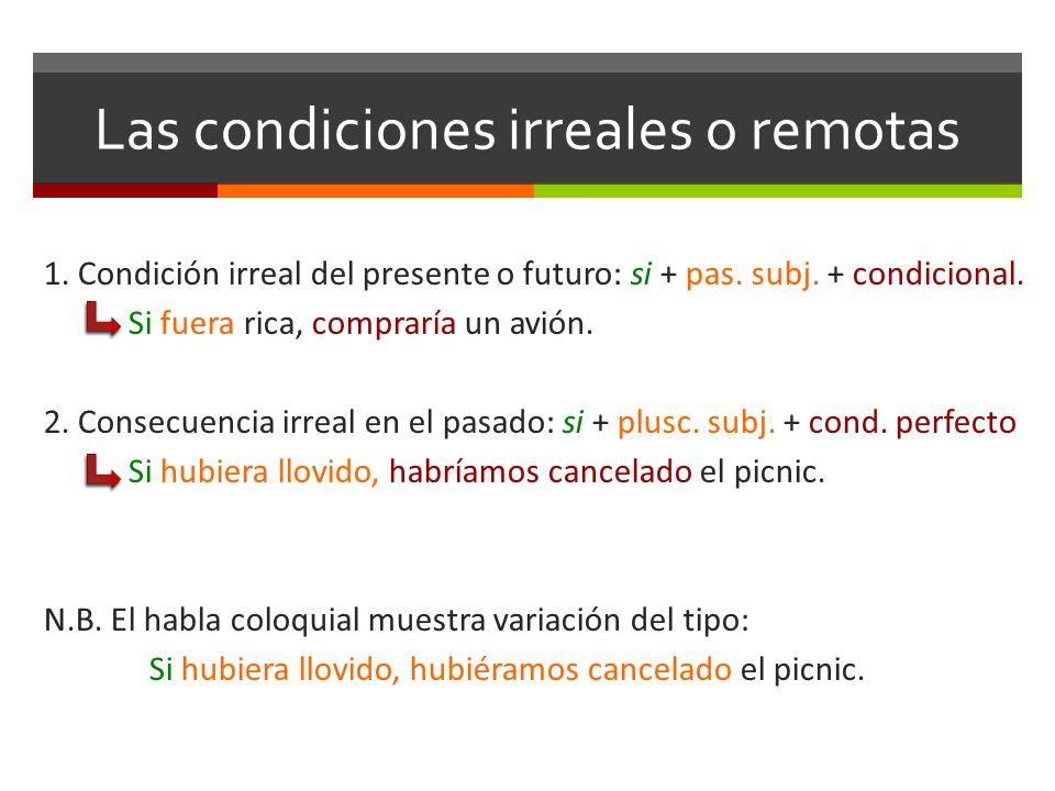 Las condiciones irreales o remotas