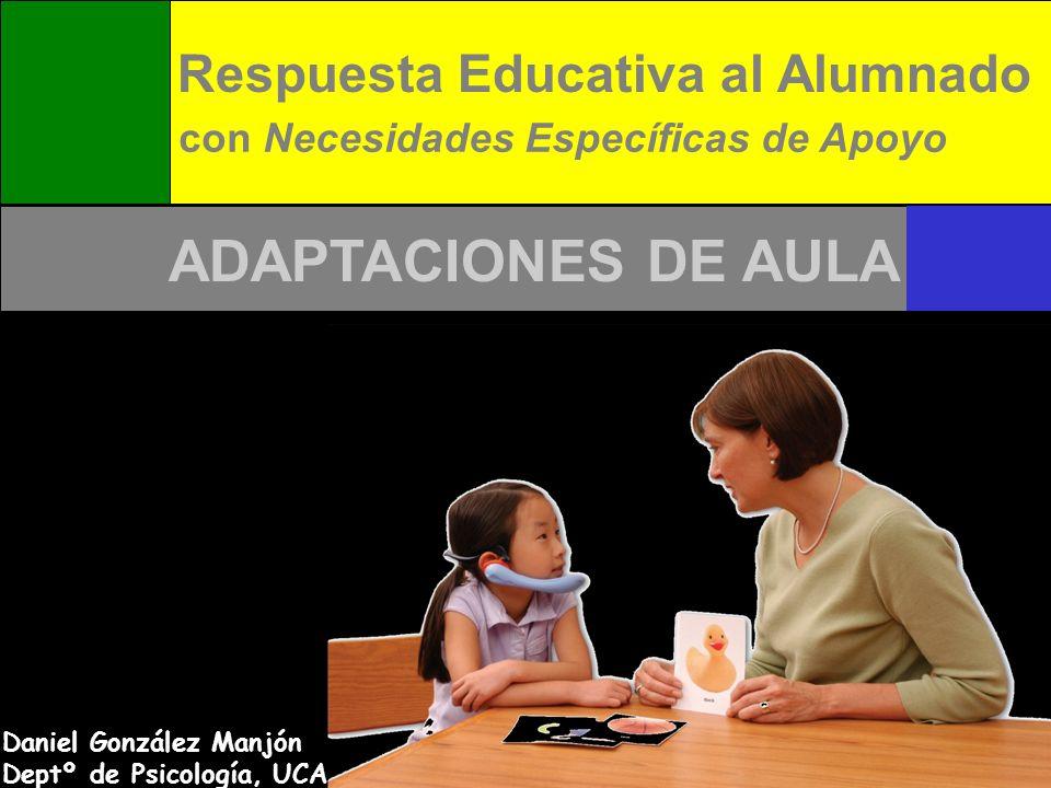 ADAPTACIONES DE AULA Respuesta Educativa al Alumnado