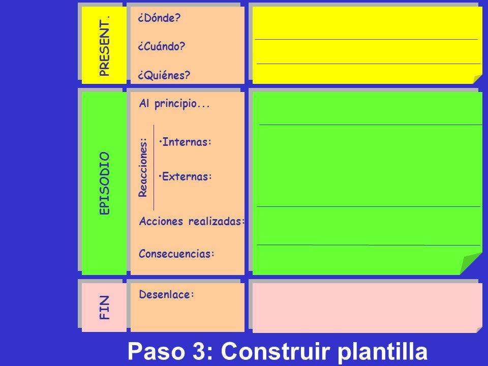 Paso 3: Construir plantilla