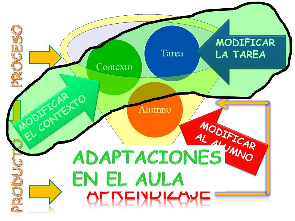 ADAPTACIONES EN EL AULA APRENDIZAJE PROCESO PRODUCTO Tarea Contexto