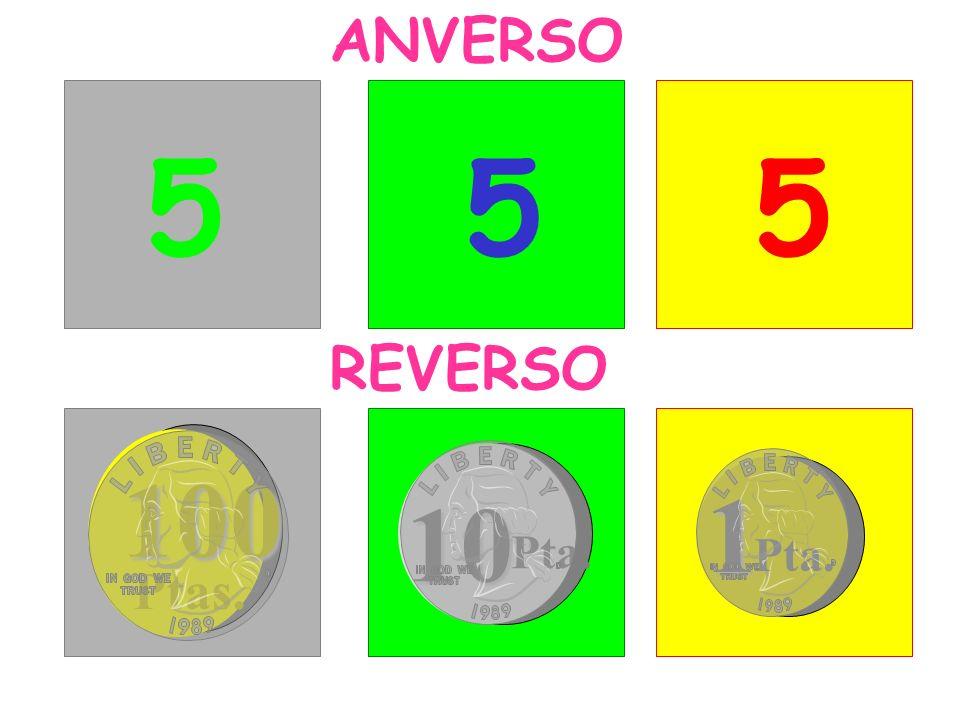 ANVERSO 5 5 5 REVERSO 100 1 10 Pta. Pta. Ptas.