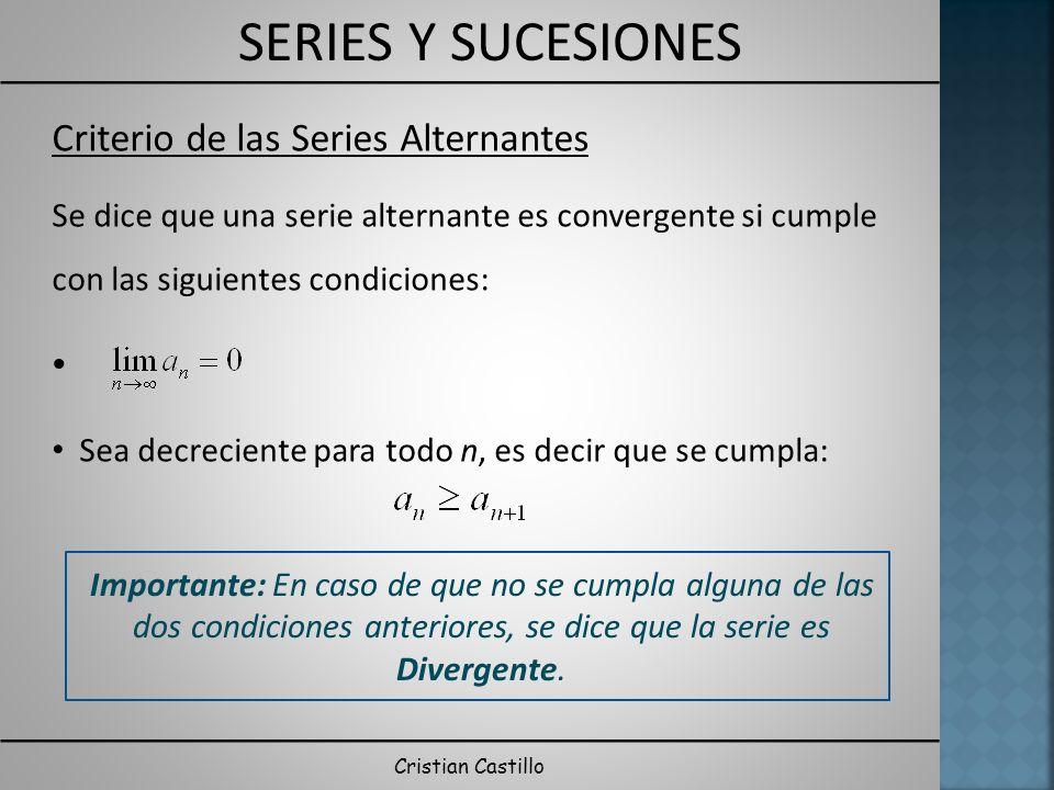 Criterio de las Series Alternantes