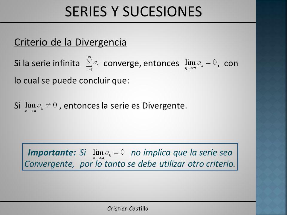 Criterio de la Divergencia