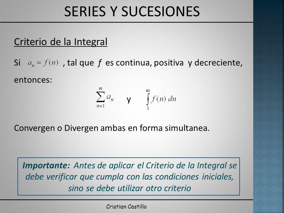 Criterio de la Integral