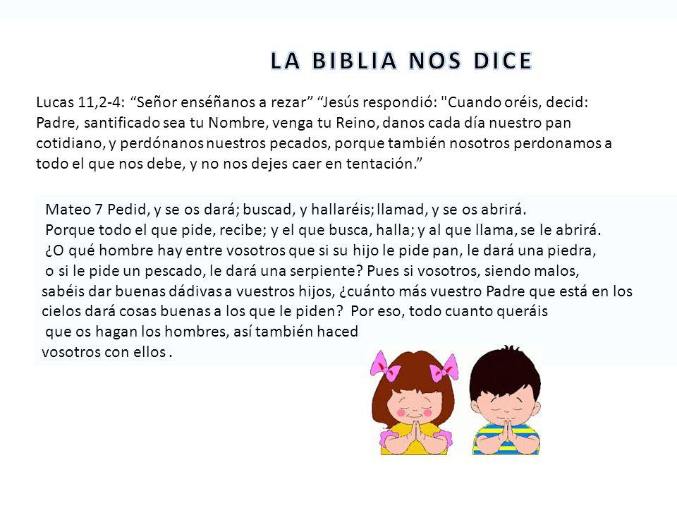 LA BIBLIA NOS DICE