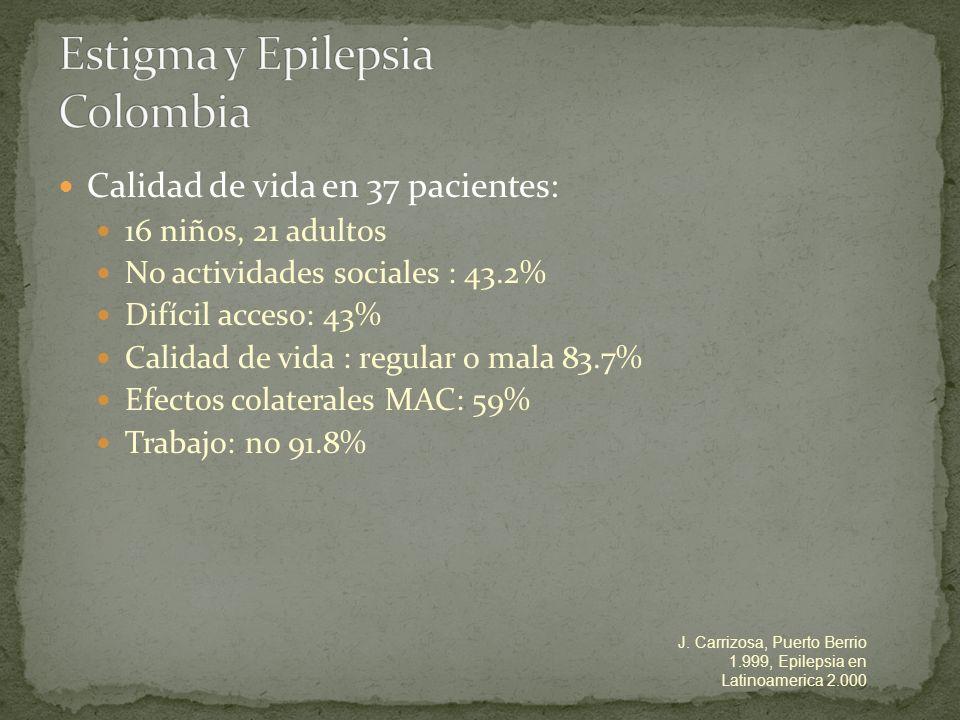 Estigma y Epilepsia Colombia