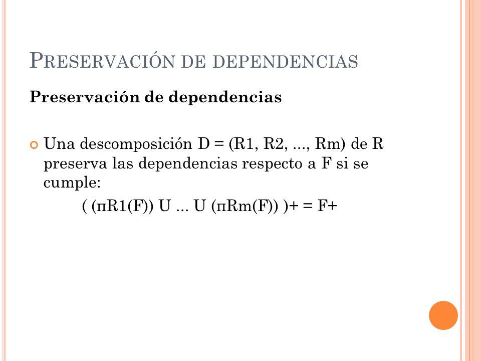 Preservación de dependencias