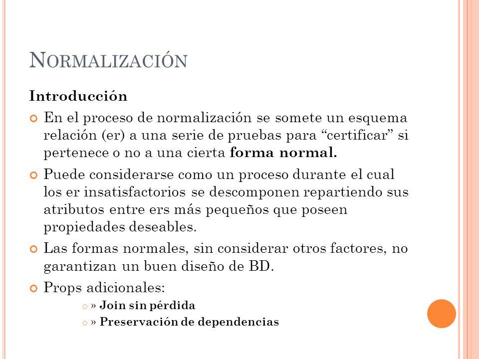 Normalización Introducción