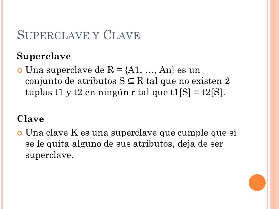 Superclave y Clave Superclave