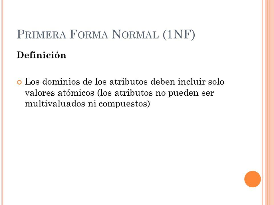 Primera Forma Normal (1NF)