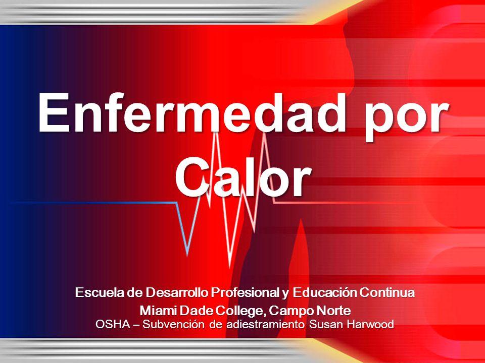 Enfermedad por Calor Escuela de Desarrollo Profesional y Educación Continua. Miami Dade College, Campo Norte.