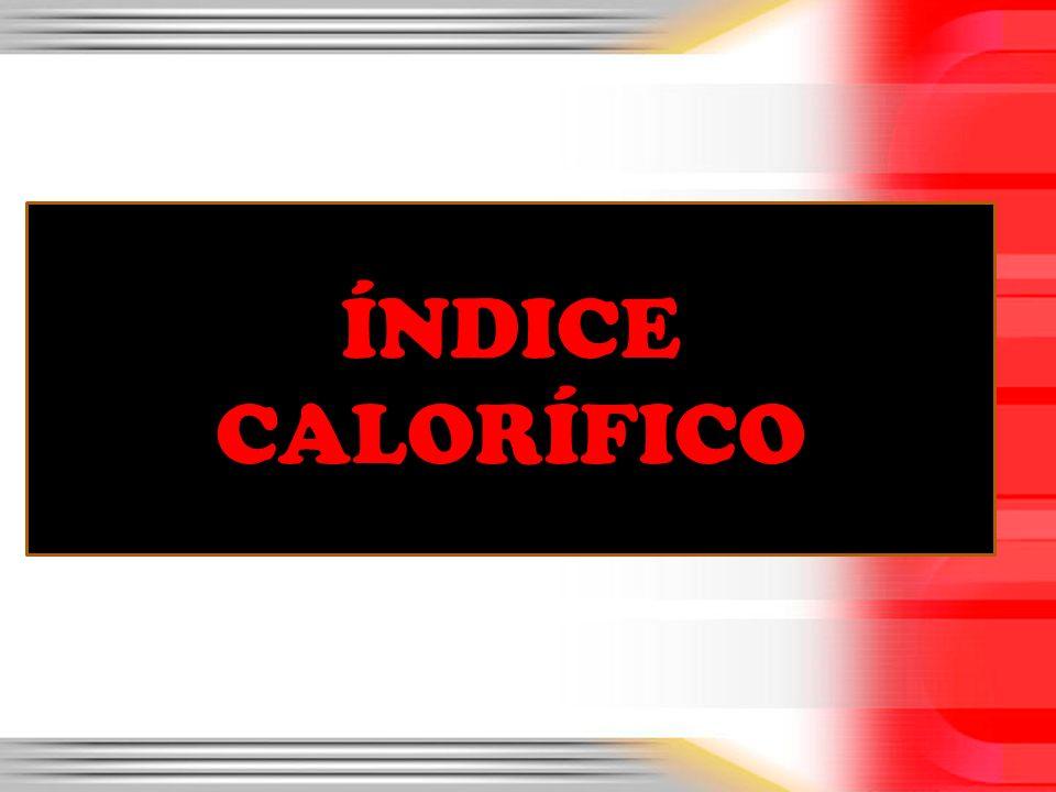 ÍNDICE CALORÍFICO