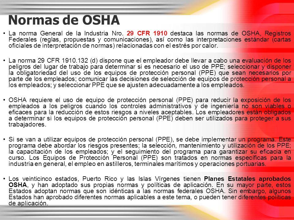 Normas de OSHA