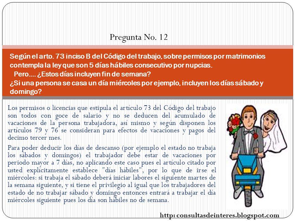 Pregunta No. 12