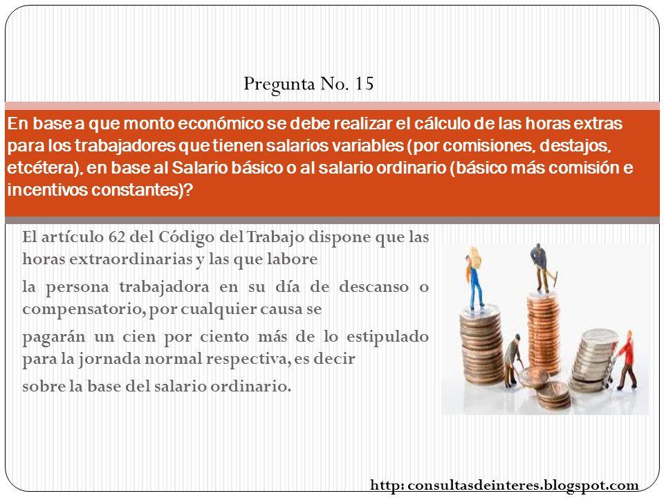 Pregunta No. 15