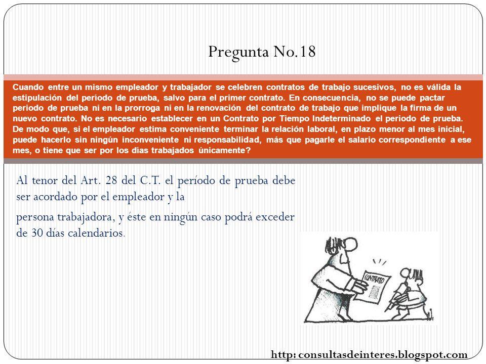 Pregunta No.18