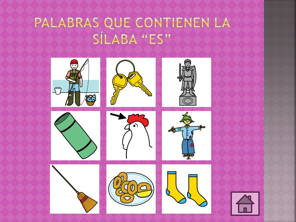 Palabras que contienen la sílaba ES