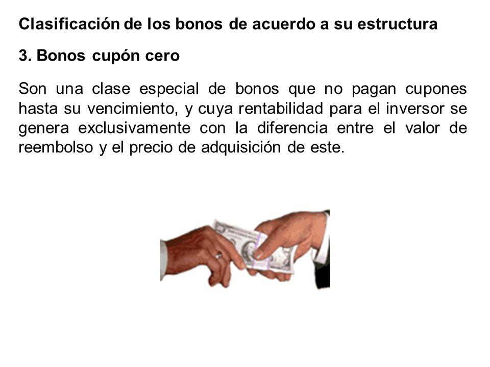 Clasificación de los bonos de acuerdo a su estructura