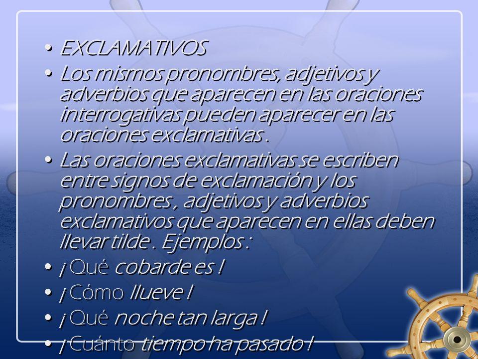 EXCLAMATIVOS