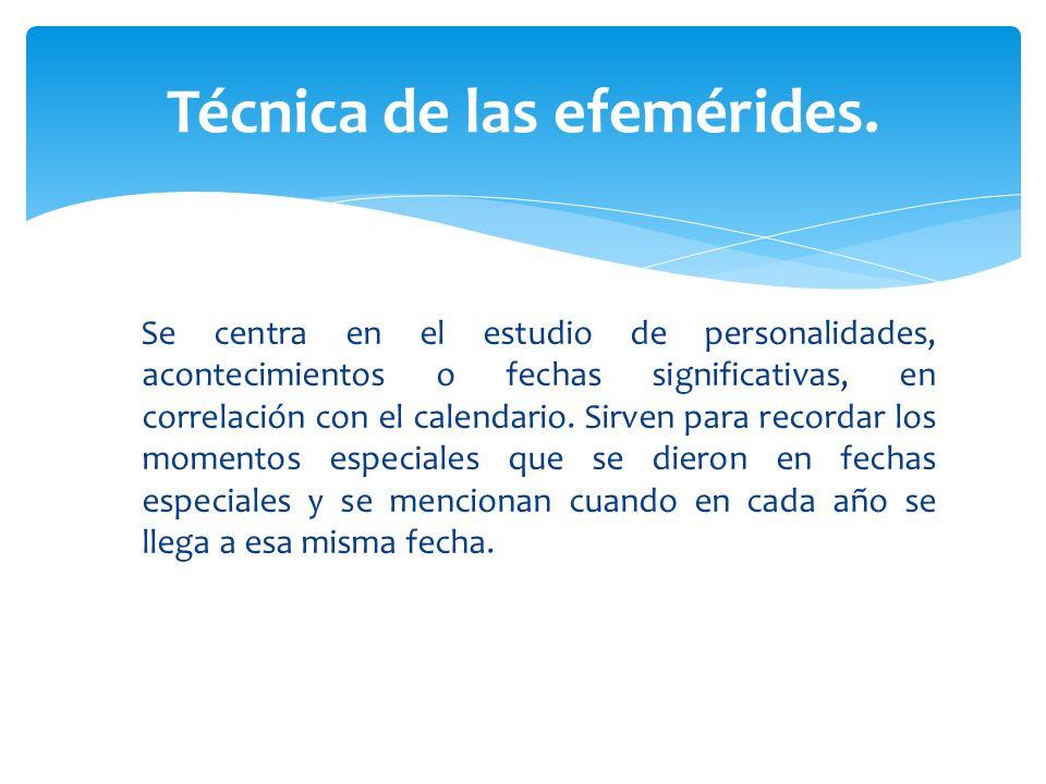 Técnica de las efemérides.