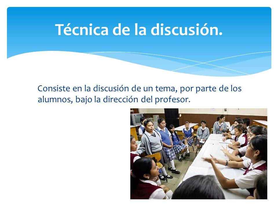 Técnica de la discusión.