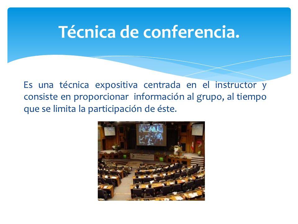 Técnica de conferencia.