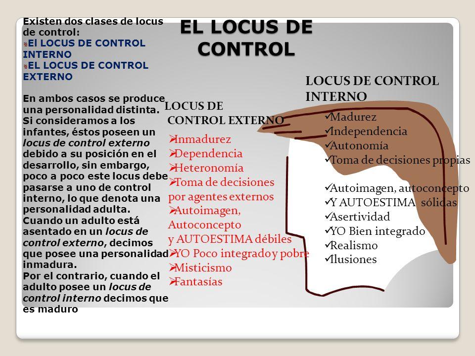 EL LOCUS DE CONTROL LOCUS DE CONTROL INTERNO LOCUS DE CONTROL EXTERNO