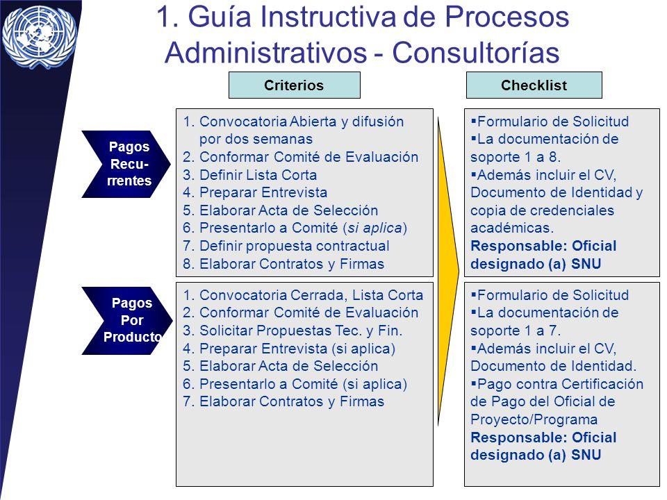 1. Guía Instructiva de Procesos Administrativos - Consultorías