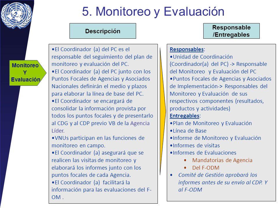 5. Monitoreo y Evaluación