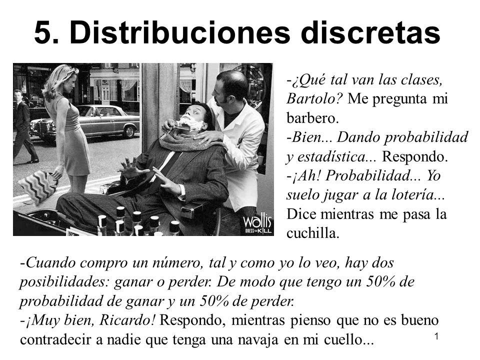5. Distribuciones discretas