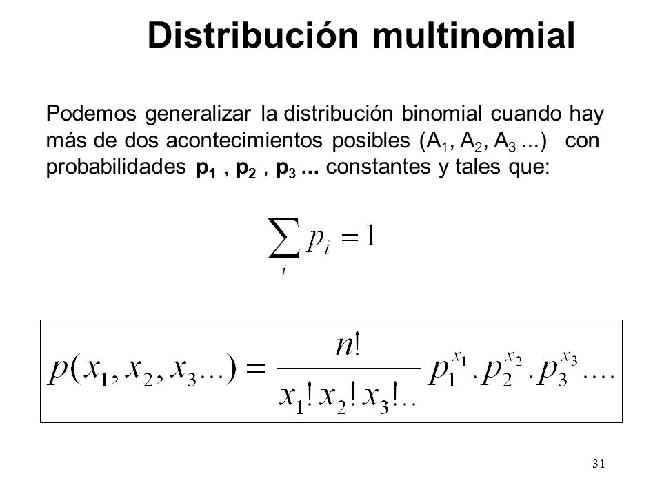 Distribución multinomial