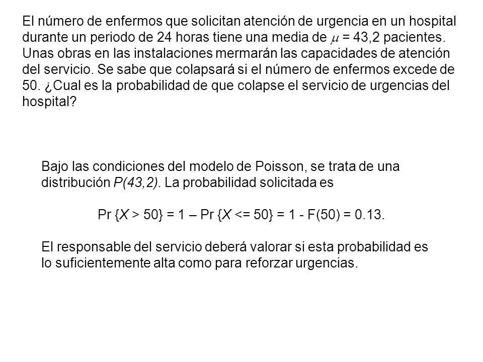 Características de la distribución de Poisson