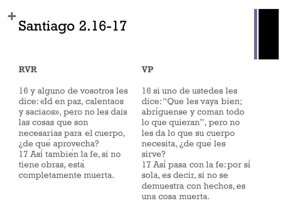 Santiago 2.16-17