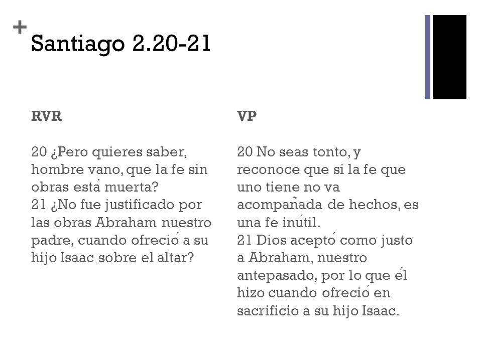 Santiago 2.20-21