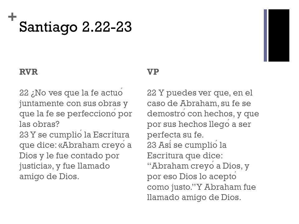 Santiago 2.22-23