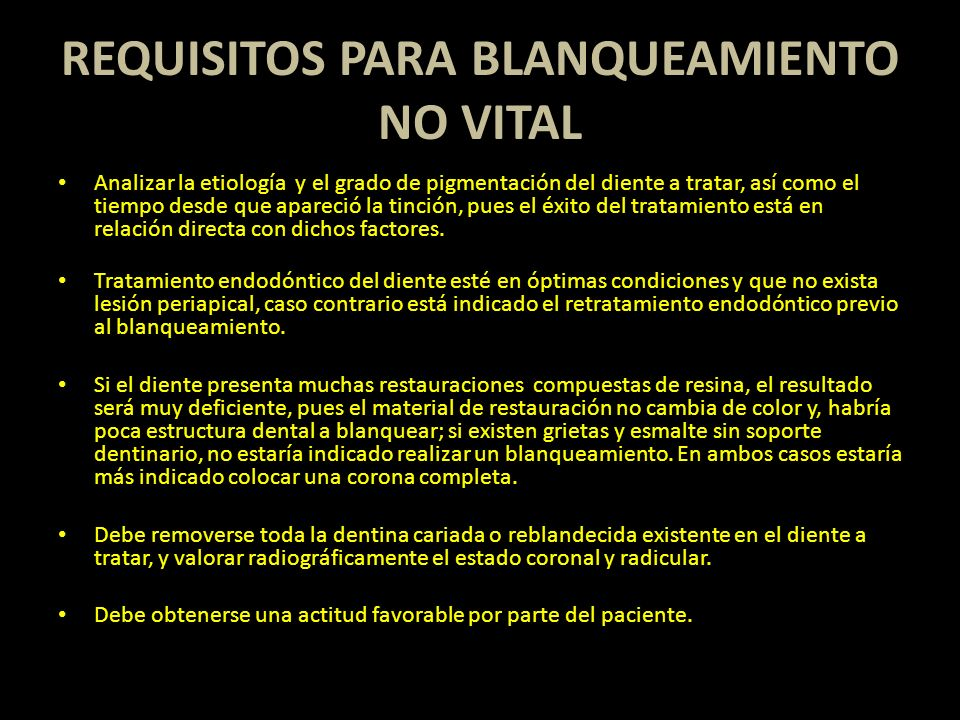 REQUISITOS PARA BLANQUEAMIENTO NO VITAL