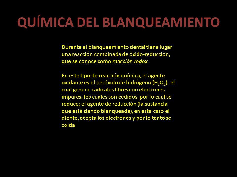 QUÍMICA DEL BLANQUEAMIENTO