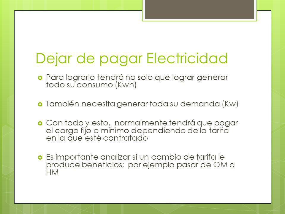 Dejar de pagar Electricidad