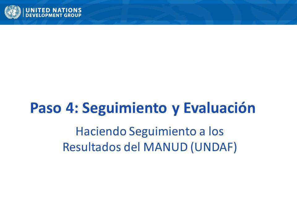 Haciendo Seguimiento a los Resultados del MANUD (UNDAF)