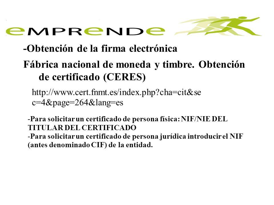 -Obtención de la firma electrónica