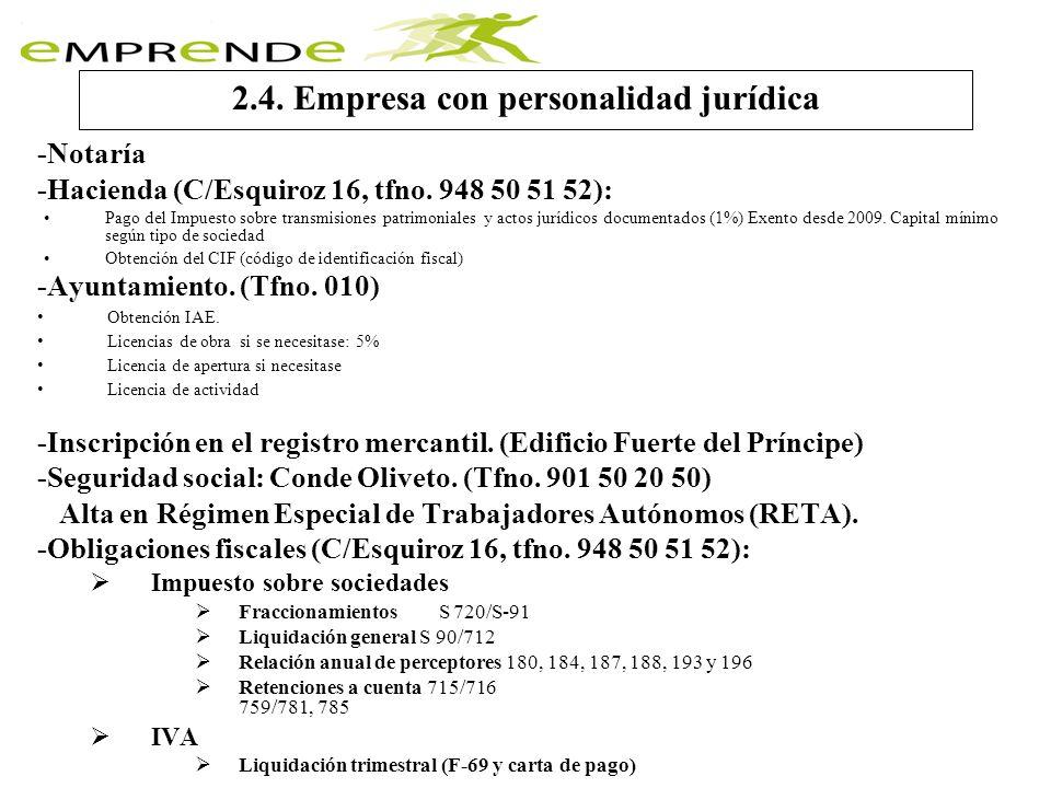 2.4. Empresa con personalidad jurídica