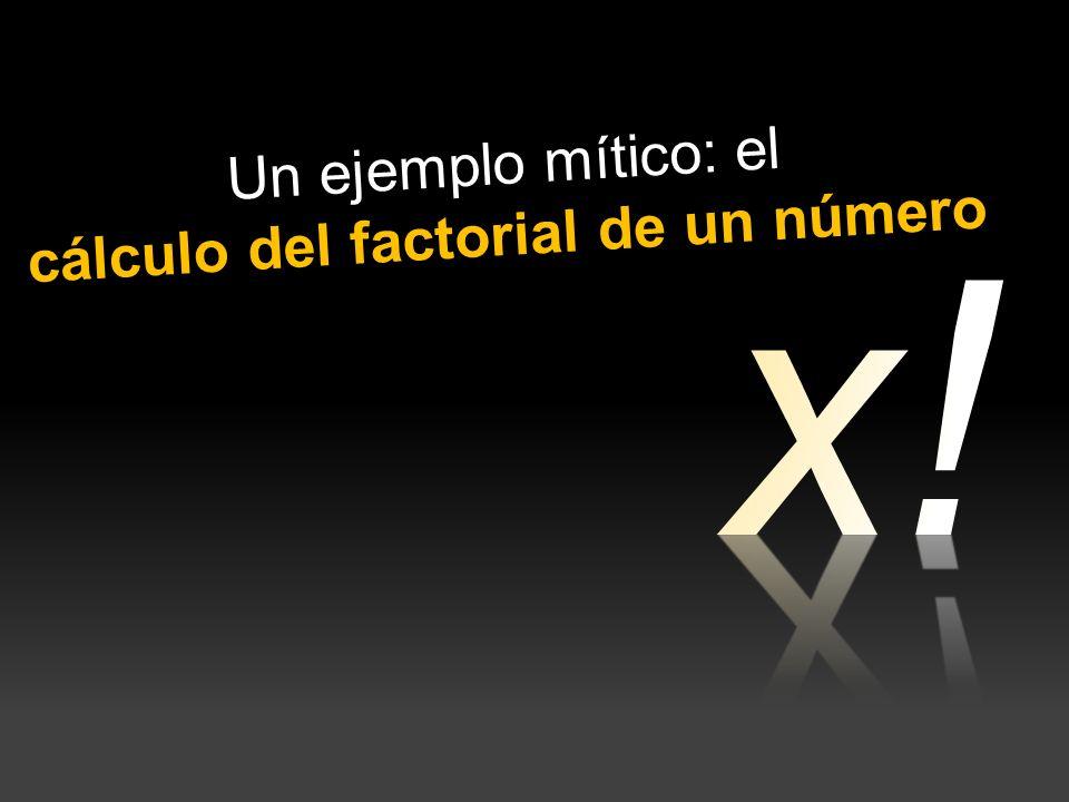 cálculo del factorial de un número