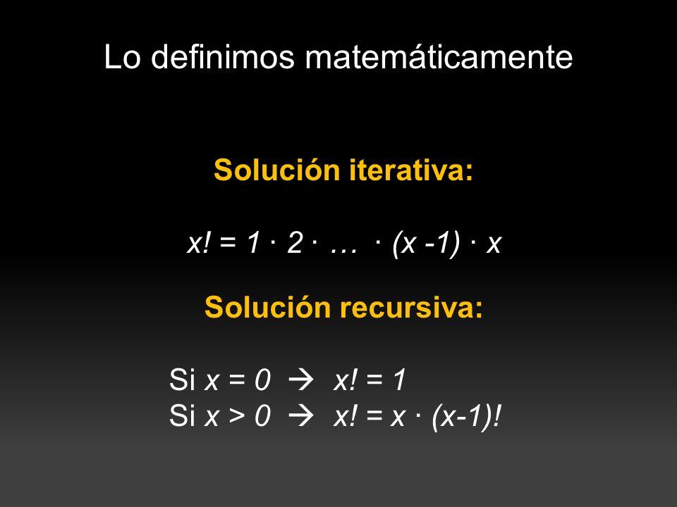 Lo definimos matemáticamente