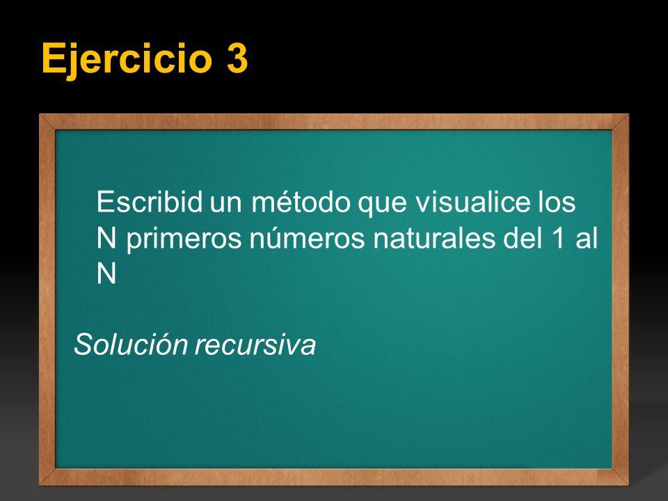 Ejercicio: Escribir un programa que calcule todos los factoriales del 1 hasta el valor.